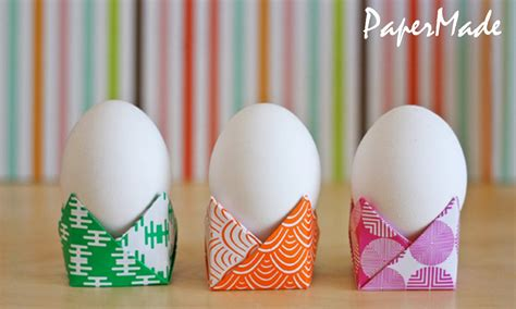 How To Make An Easter Egg Out Of Paper - how to make a egg holder origami easy tutorial