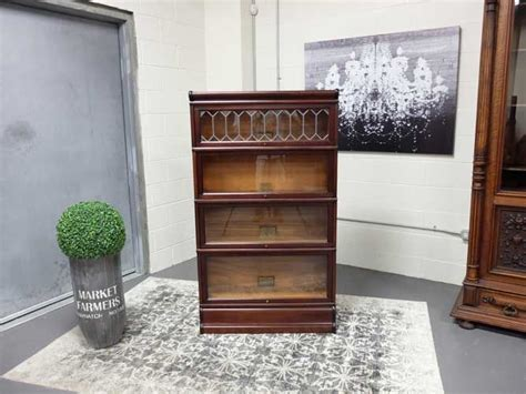 barrister bookcase leaded glass antiques by design mahogany leaded glass stacking