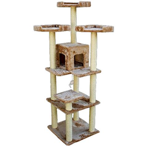 walmart cat house 80 quot majestic pet cat tree walmart com