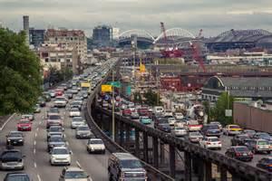 Seattle Area Traffic Map by Alaskan Way Viaduct Traffic Seattle Washington By