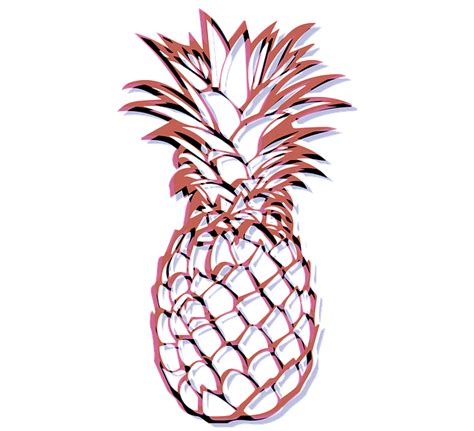 3d Wall Stickers free illustration white pineapples fruits yellow