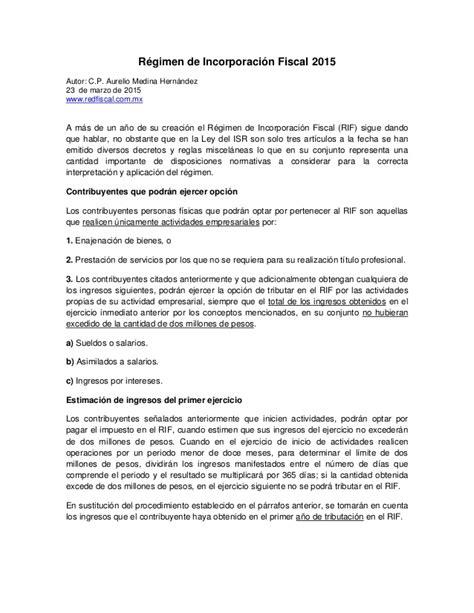 guia regimen de incorporacion fiscal 2015 slideshare r 233 gimen de incorporaci 243 n fiscal 2015