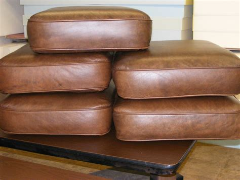 leather couch cushion repair new replacement cores for leather furniture cushions