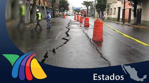 fotomulta del estado de mexico toluca aparece grieta enorme en toluca noticias del estado de
