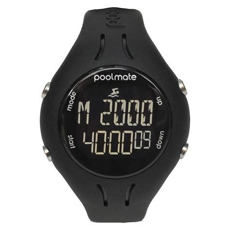 swimovate poolmate2 swim sports black front view