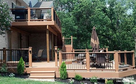 two level backyard 25 best ideas about two level deck on pinterest