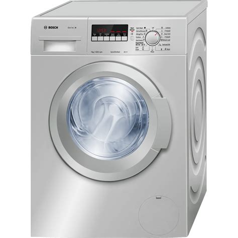washing machines dryers bosch 7kg silver front loader bosch wak2427sza washing machine front load 7kg silver