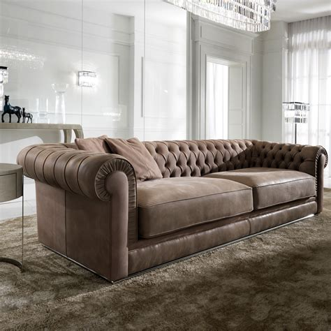 sofa high end high end italian leather button upholstered sofa
