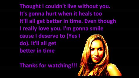 better in time leona lewis better in time lyrics