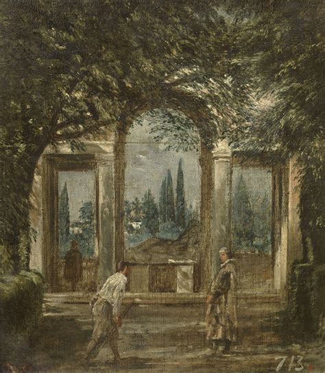 nel giardino di padiglione di arianna nel giardino di villa medici a roma