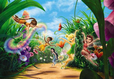 Disney wall mural wallpaper for girl s bedroom poster style fairies meadow ebay