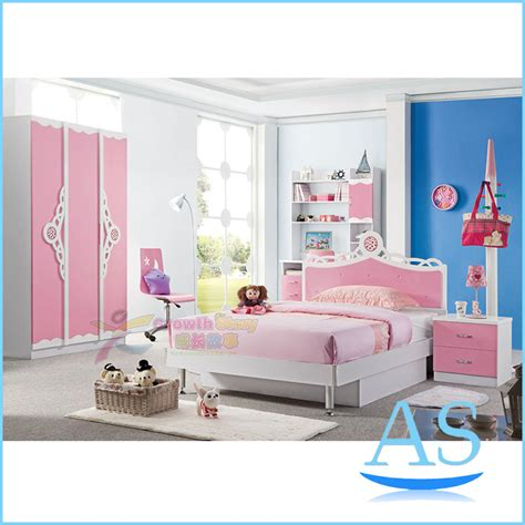 kids bedroom set 2015 china modern lovely kids bedroom furniture girls popular pink bedroom set k103 in wood