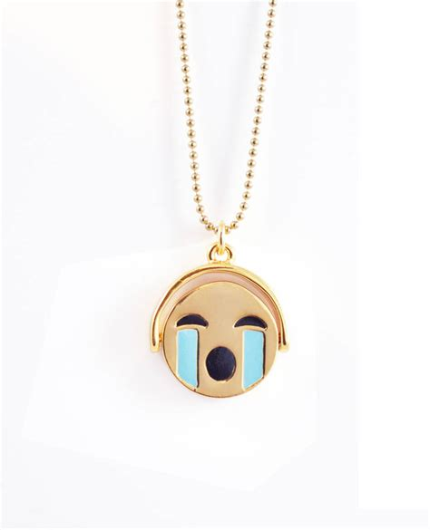 emoji necklace reversible emoji necklace by me zena