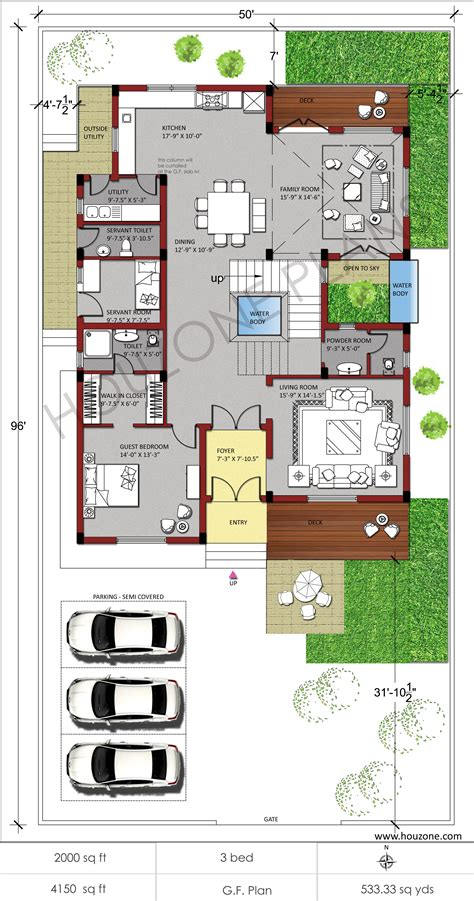Plan Of Duplex by Duplex House Plans Houzone