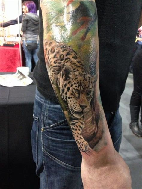 leopard tattoo full body super realistic leopard tattoo on whole arm tattooimages biz