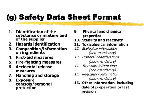 Ghs Safety Data Sheet Template Aiyin Template Source Osha Sds Template