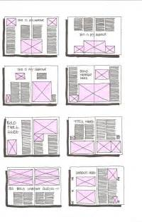 yearbook template indesign grid layout sketches on magazine layouts