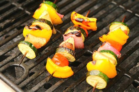vegetables kabobs simple grilled summer vegetable kabobs