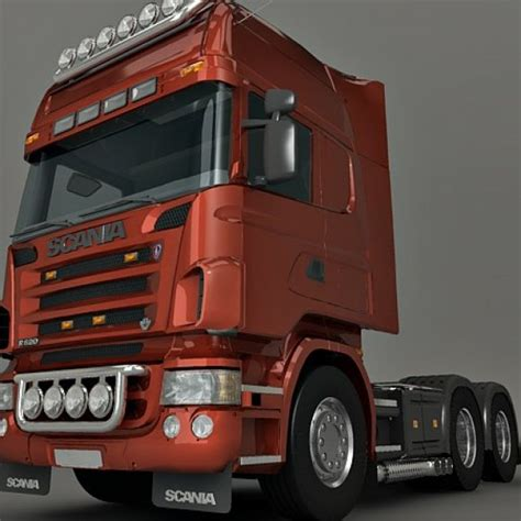 scania lorry 3d model 3ds max mb sldprt