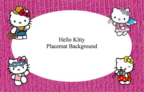 Pome Hellokitty Pink Pome Hellokitty Pome Hello Hello Kitt placemat backgrounds names and poems