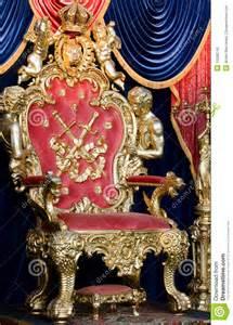 Red Velvet Armchair Royal Throne Stock Photo Image 15068740