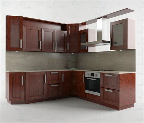design kitchen set 3d model kitchen set