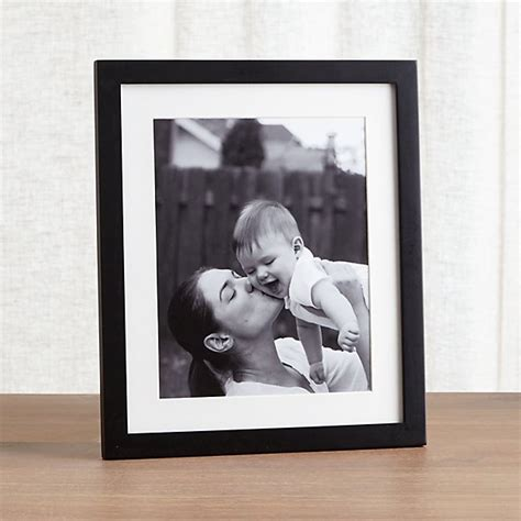 10 x 12 mat to 8x10 matte black 8x10 picture frame crate and barrel
