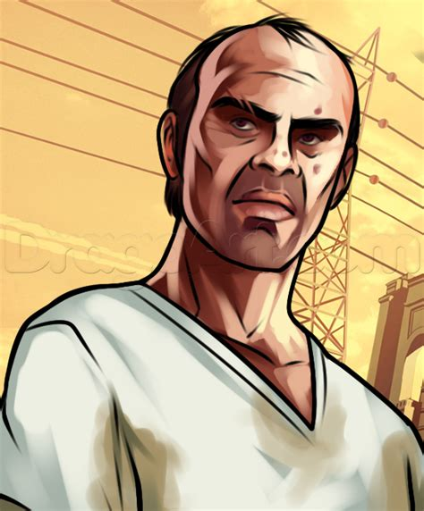 how to in gta 5 how to draw trevor from gta v trevor philips step by step characters