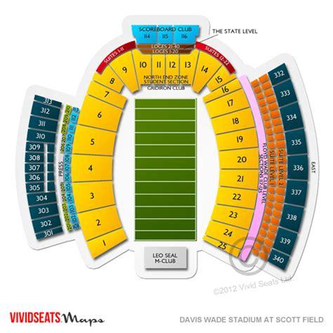 davis wade stadium seating chart davis wade stadium at field tickets davis wade