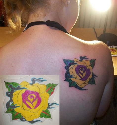 yellow rose tattoo shop yellow by artworkbymatward on deviantart