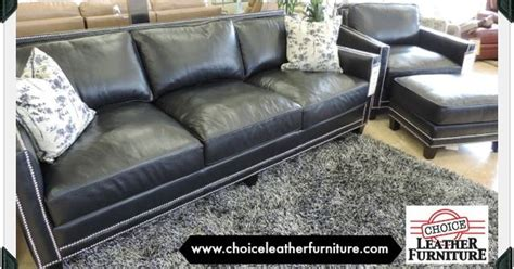Slate Blue Leather Sofa Slate Blue Leather Sofa And Chair With Silver Nail Studs Gorgeous Leather Sofas