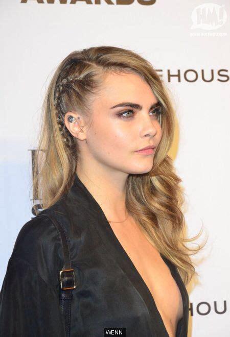 imitate half shaved look with braids cara delevinge french braid mimicking the half shaved