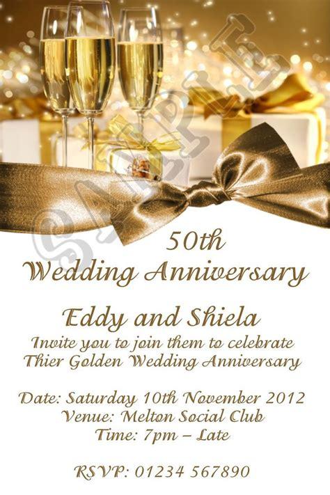 wedding anniversary wording anniversary invitations 50 wedding anniversary