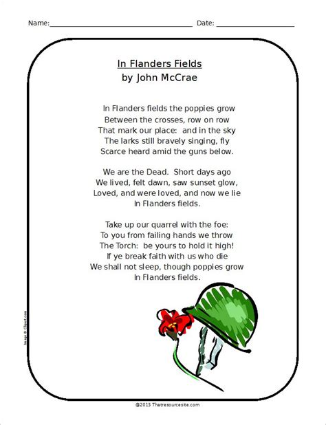printable version of flanders fields we must remember our veterans religious activities and