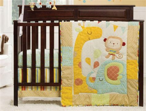 Crib Bumper Size by Crib Size Graco Jungle Friends Quilt Bumper Sheet