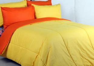 Sprei Vallery Orange Uk 120 detail product seprei dan bedcover polos kuning mix orange toko bunda