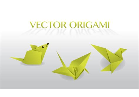 Origami Graphic - origami vector free vector at vecteezy
