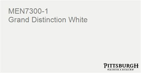 paint color grand distinction white