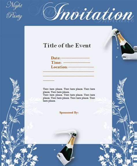 formal invitation template for an event 9 event invitations sle templates