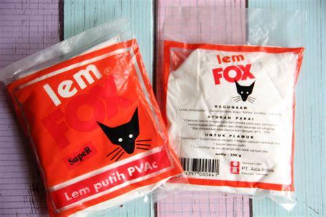 Lem Fox Putih 350 Grm jual refill lem putih fox pvac jaya makmur stationery