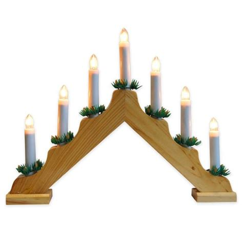 christmas natural wooden candle bridge from dunelm mill