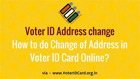 Address Search By Voter Id Voter Id Address Change How To Do Change Of Address In