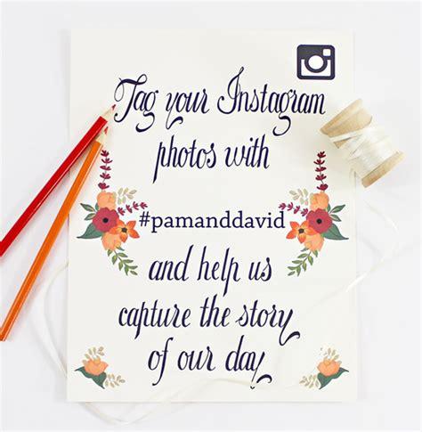 Wedding Congratulation Signs by Instagram Wedding Signs Free Printable