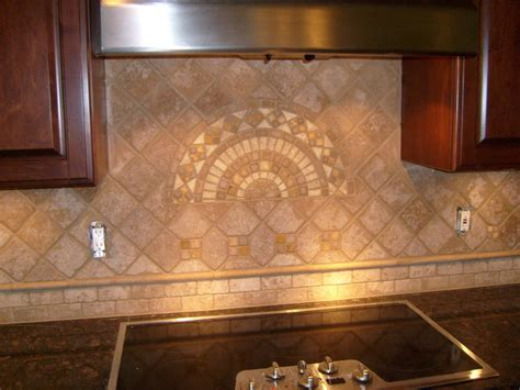 faux kitchen backsplash tile backsplashes mediterranean kitchen other metro