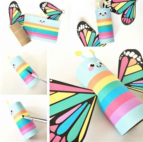 Craft Printing Paper - hello wonderful rainbow butterfly paper craft with