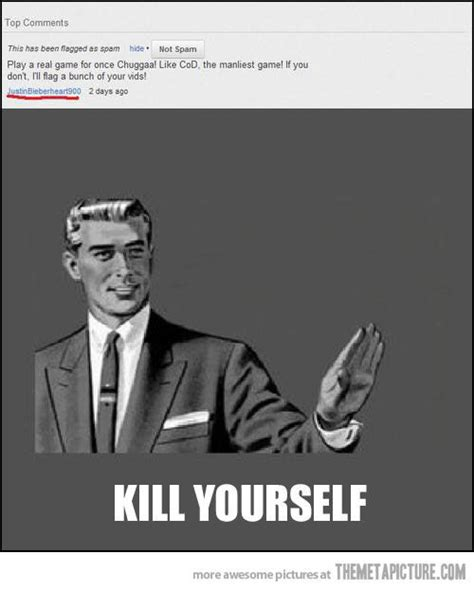 Kill Yourself Meme - image gallery kill yourself facebook