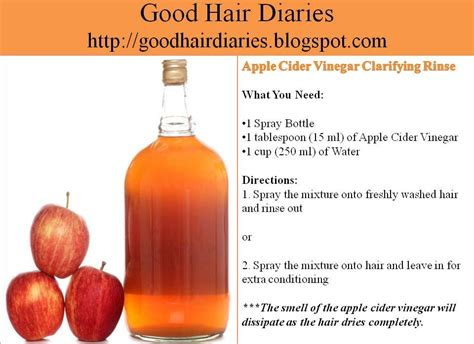 apple cider vinegar hair color hair tip tuesday apple cider vinegar clarifying rinse