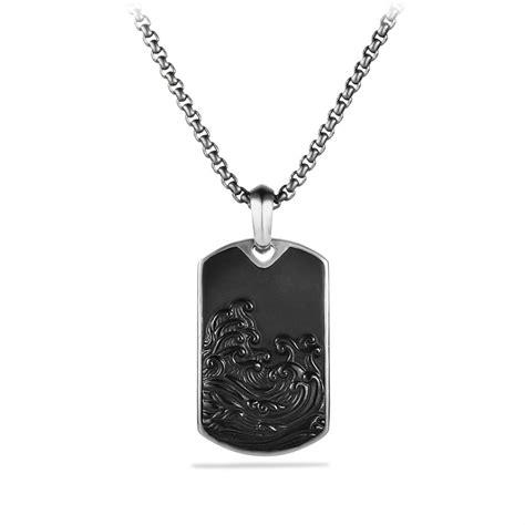 david yurman tag david yurman waves tag with black onyx in black for lyst