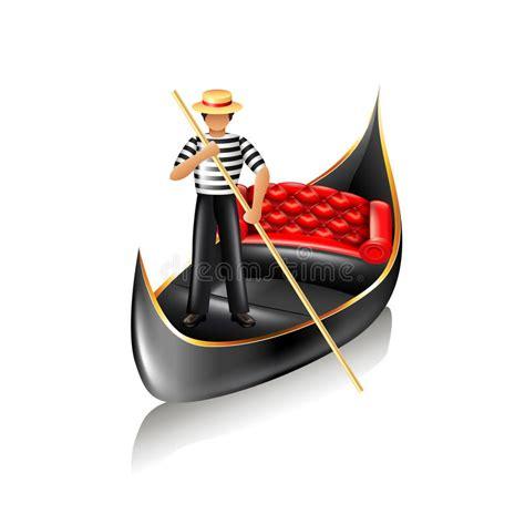 cartoon venice boat venice gondola vector stock vector illustration of rudder