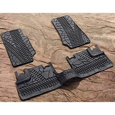 Mopar Jeep Floor Mats Mopar Accessories 82210164ac Slush Style Floor Mats 2007